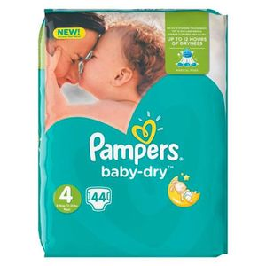 COUCHE Pampers Couches Baby-Dry Taille 4 Géant (8-16Kg) x