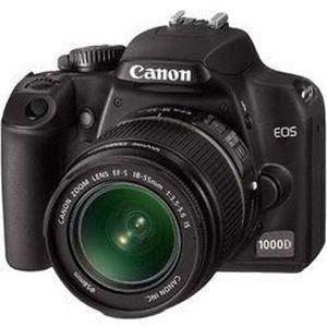 APPAREIL PHOTO RÉFLEX CANON EOS 1000D + EF-S 18-55 + 75-300 mm Noir