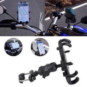 Grefay Support Téléphone Vélo Guidon de Moto Berceau Collier avec Noir