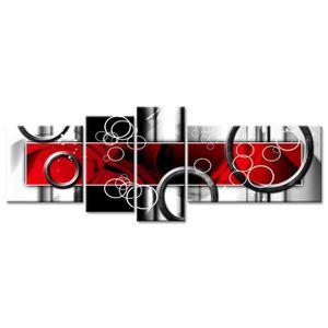 TABLEAU - TOILE Tableau Déco Abstrait Design Ronds Modernes - 160x