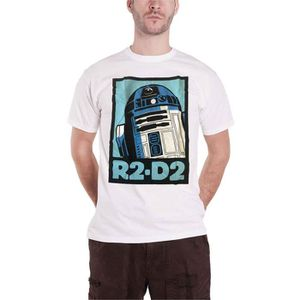 T-SHIRT Star Wars T Shirt R2D2 Retro Robot Vintage Affiche