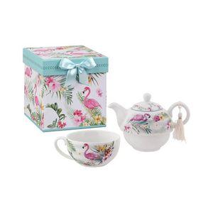 Superbe Tea for One Set de ~ Licorne ~ Th/éi/ère avec tasse porcelaine Unicorn
