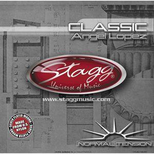 CORDE POUR INSTRUMENT STAGG Jeu de Cordes Nylon Filée Guitare Classique