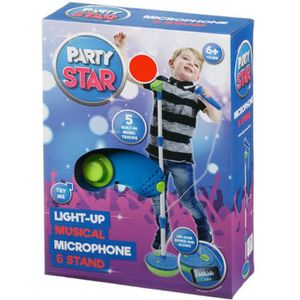 MP3 ENFANT Party Star Light Up Microphone Musical & Stand Ble