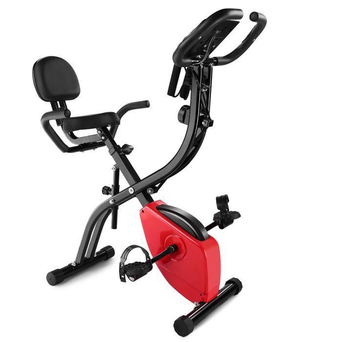 Vélo d'appartement- Bras Jambes- Ecran LED -Musculation Entrainement Fitness-pour fitness et cardio-noir