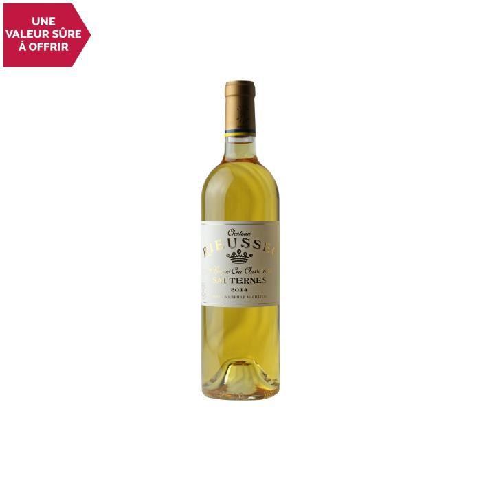 Château Rieussec Blanc 2014 - 75cl - Appellation AOC Sauternes - Vin Doux Blanc de Bordeaux - Cépages Sémillon, Sauvignon Blanc,