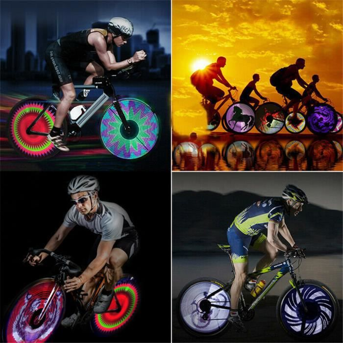 64 LED coloré affichage double-face vélo vélo bricolage lumière de roue à rayons 2019 Equipement fitness PRODUITS DE FITNESS ET