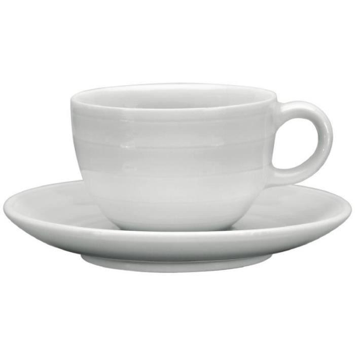 Tasse à café espresso 110ml empilable avec soucoupe Intenzzo White