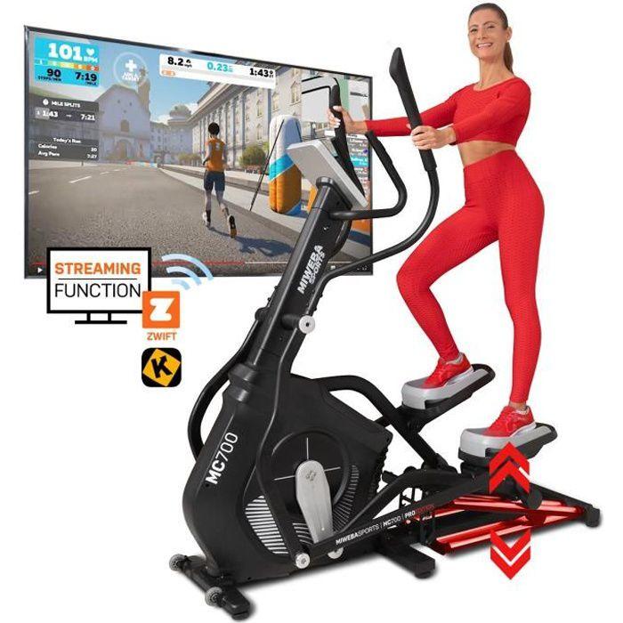Vélo elliptique Sports MC700, volant d'inertie de 30 kg, 32 niveaux d'intensité, moniteur de fréquence cardiaque, frein magné