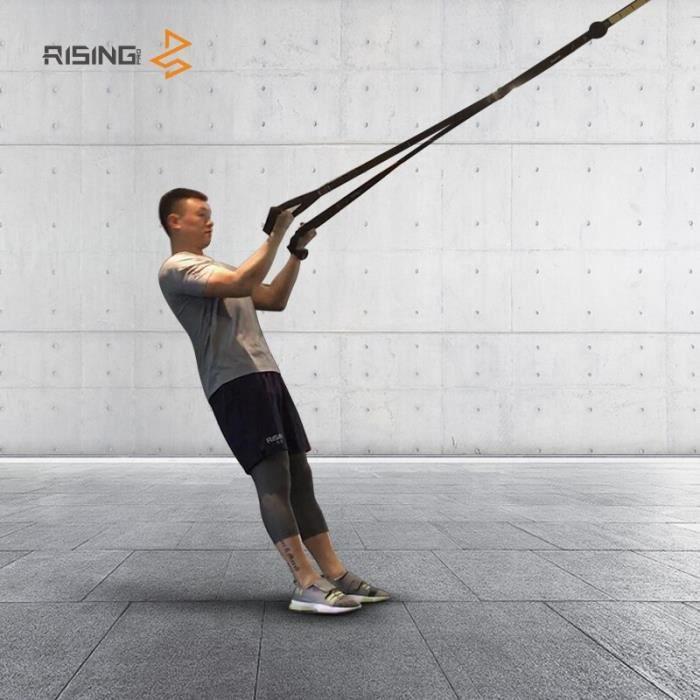 Bandes de résistance crossfit équipement force suspendus sangle d'entraînement Fitness exercice ent - Modèle: black - HSJSTLDB02434