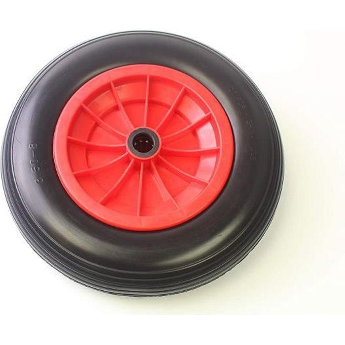 35.6cm PU Solide Mousse Roue 3.50-8 Anti Crevaison Brouette Sac Chariot Roue 2.5cm Calibre Avec Roulements