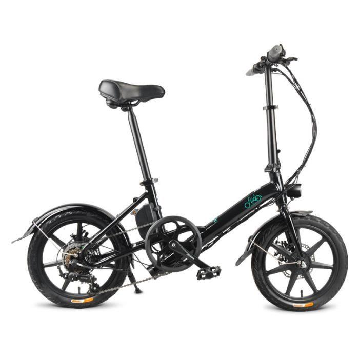 [Navire de Pologne] FIIDO D3S Ebike - Vélo électrique Pliant de 7,8 Scooter électrique de 16 Pouces Noir