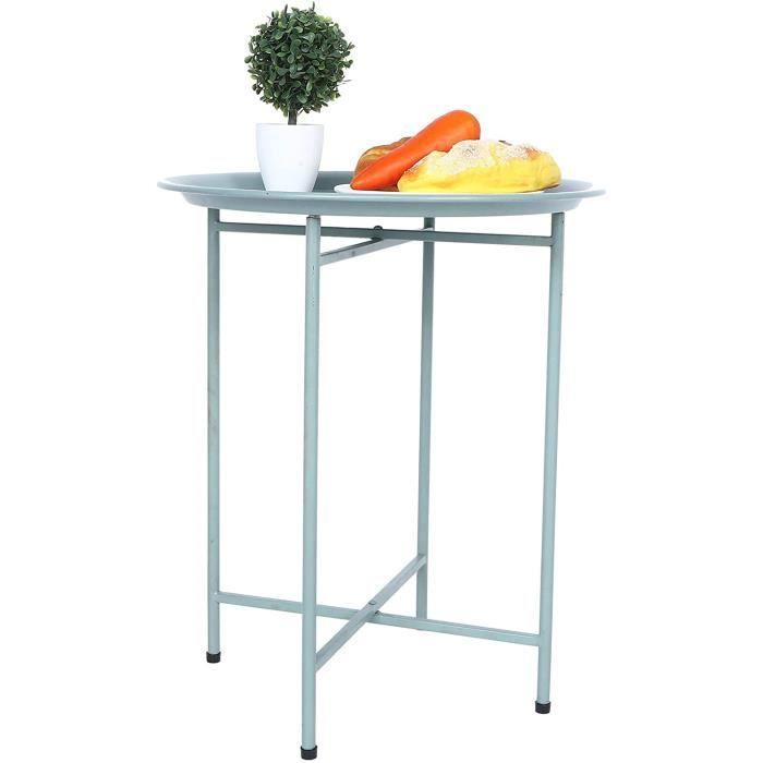 TABLE D'APPOINT - TABLE DE COMPLEMENT - GUERIDON Table Basse Bout de Canap&eacute Style Nordique Petite Table Ronde en M&eacute429