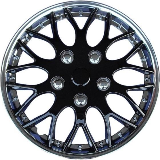 AutoStyle enjoliveurs Missouri 13 pouces ABS noir / chrome lot de 4