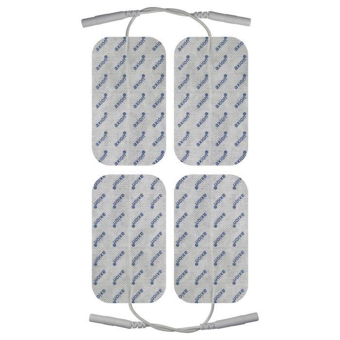 Axion – 4 électrodes 10 x 5 cm - compatible avec les appareils utilisant une connexion à fiches de 2 mm