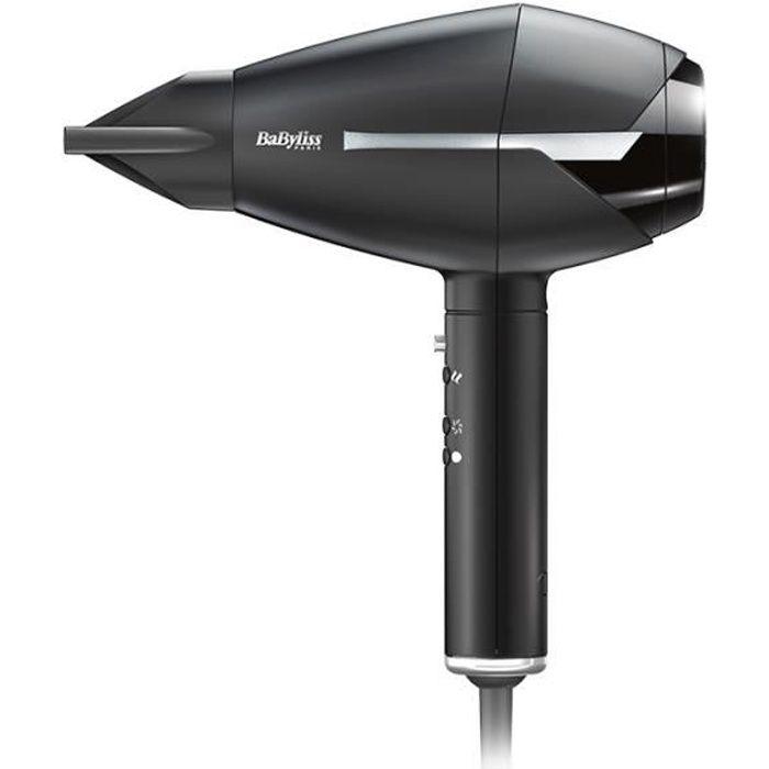 BABYLISS - 6730E - PREMIUM SECHE-CHEVEUX AC Compact Silver 2 concentrateurs + 1 diffuseur