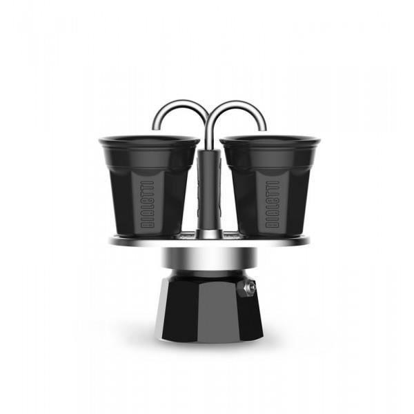 BIALETTI Set cafetière Mini Express Restyling + 2 tasses 0007306 Noir