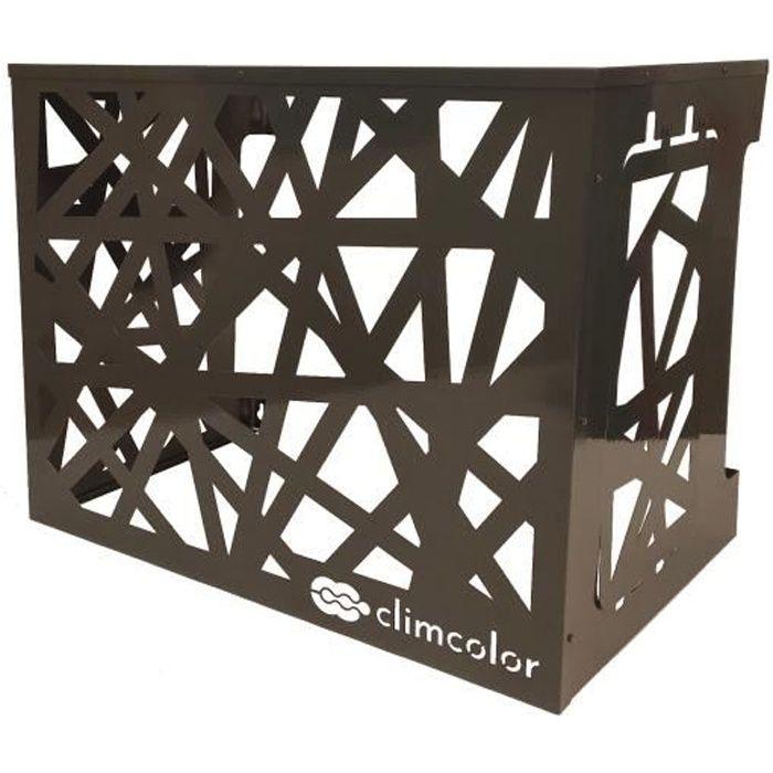 CLIMCOLOR Cache climatisation design - COCON Gris Anthracite taille S [70x55x45cm]
