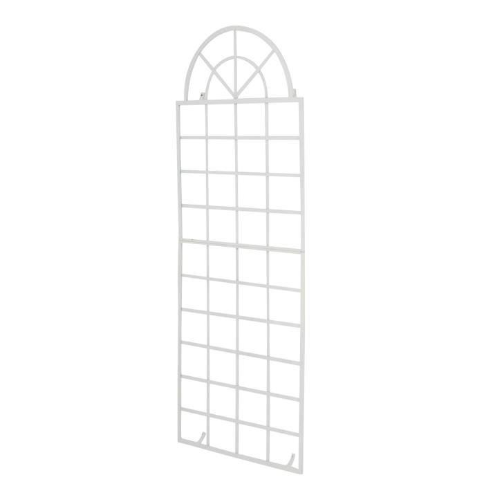 CLP Treillage VIVA fixation murale en fer, avec cadres, pour plantes grimpantes, taille: 180 x 70 cm, en fer180 cm - blanc CLP