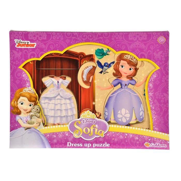 Eichhorn Disney Princess Sofia Puzzle en bois 13 pièces + 2 ans, jouet, jeux