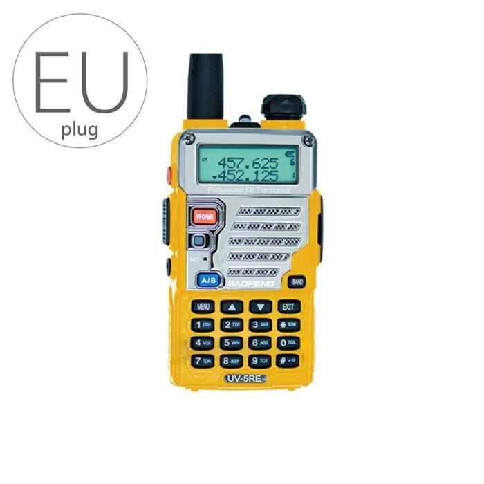 BAOFENG UV-5RE talkie-walkie bi-bande UHF VHF double montre CB Radio VOX FM émetteur-récepteur Handy Jaune