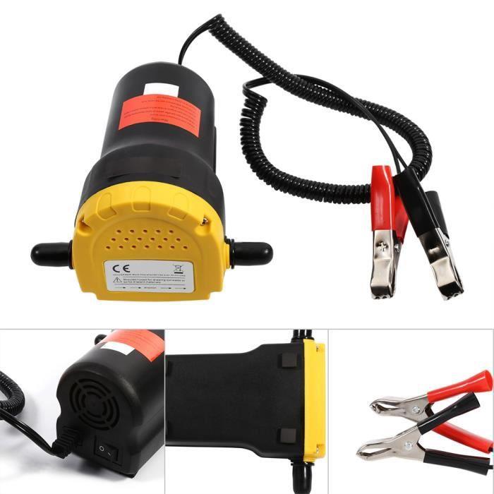 VIE® Aspiration électrique de pompe d'extracteur de transfert de fluide d'huile diesel 12V pour le bateau de moto de voiture