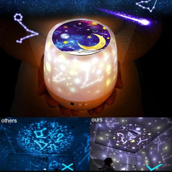 Lampe de projection rotative 6 types d'effets d'éclairage