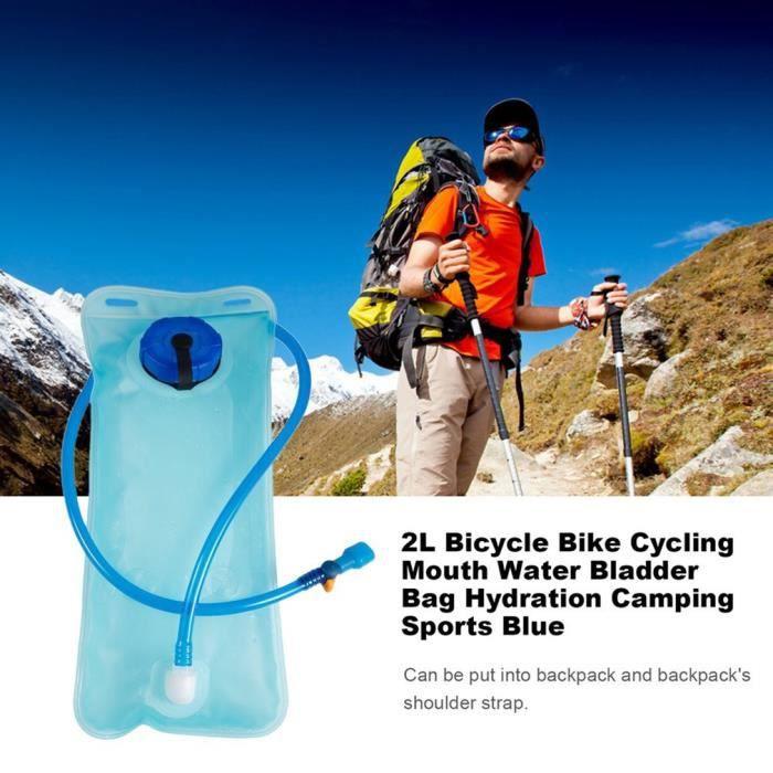 2L poche à eau sac d'hydratation camel back vélo bouche eau vessie sac hydratation camping en plein air sports randonnée sac d'eau