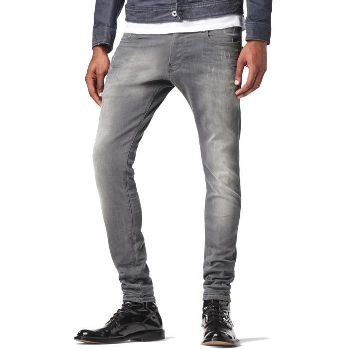 Jeans G STAR Revend Super Slim Slander Grey Superstretch Light Aged Destroy