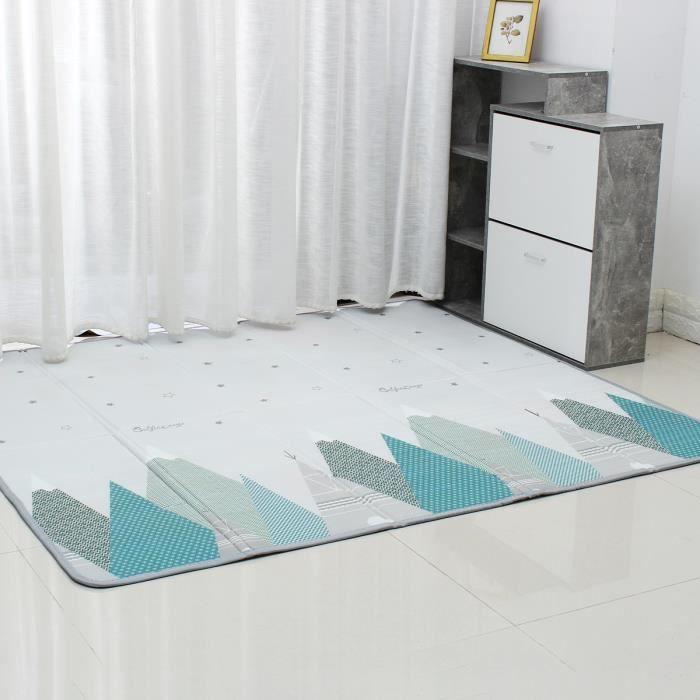 200x180x1CM Tapis d'eveil Tapis de Jeux Imperméable Pliable Escalade Maison Salon Chambre Pour enfants bébé -Double face Type 2