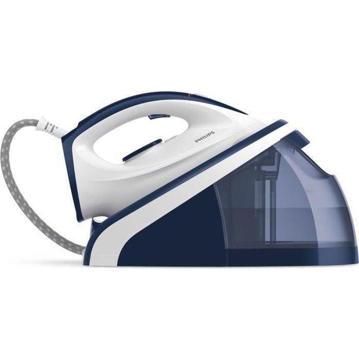 Philips HI5917-20, Fer à vapeur, Semelle en céramique, 1,6 m, 180 g-min, Bleu, Blanc, 1,1 L