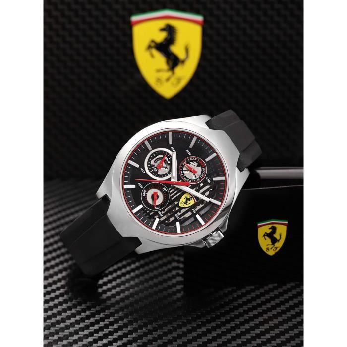Scuderia Ferrari Mixte Multi-cadrans Quartz Montres bracelet avec bracelet en Silicone - 830510