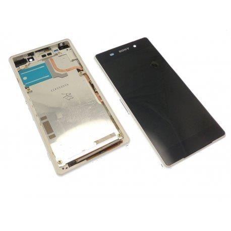 ECRAN LCD + VITRE TACTILE SONY XPERIA Z2 D6503 ORIGINAL BLANC
