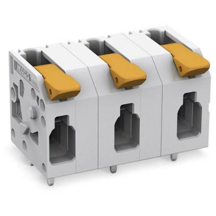 Borne pour circuits imprimés WAGO 2604-1502 4 mm² Nombre total de pôles 2 1 pc(s)