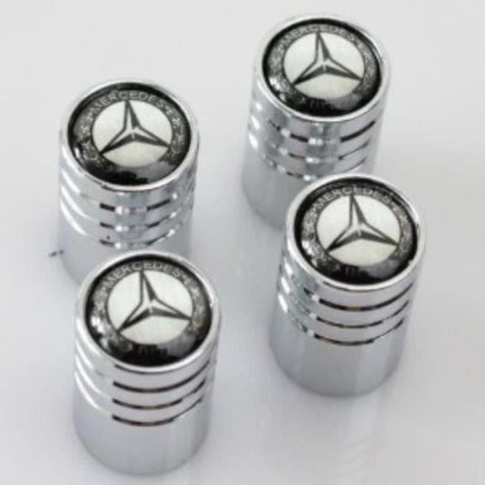 QF13330-Bouchons de valve de roue Chromé, Mercedes logo pour voiture Mercedes