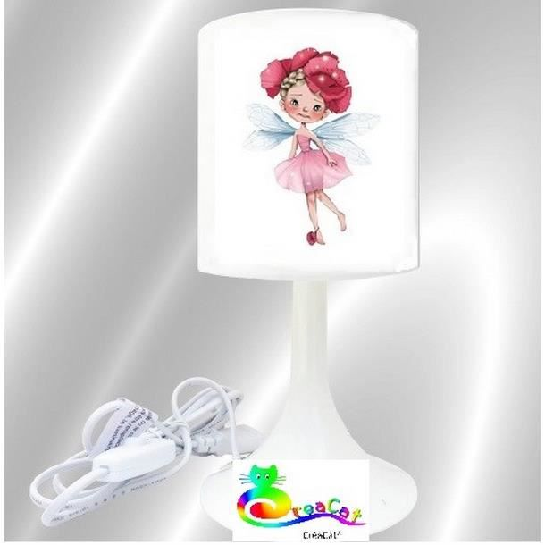lampe chevet enfant creacat fille fee 1 achat vente lampe chevet enfant creac cdiscount. Black Bedroom Furniture Sets. Home Design Ideas