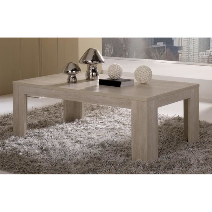 table basse pisa chene blanchi achat vente table basse. Black Bedroom Furniture Sets. Home Design Ideas