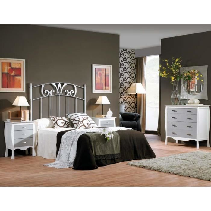 t te de lit en fer forg mod le milan achat vente. Black Bedroom Furniture Sets. Home Design Ideas