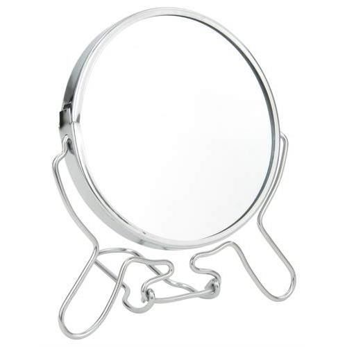 Miroir double face grossissant sur socle pliable 10cm for Miroir double face