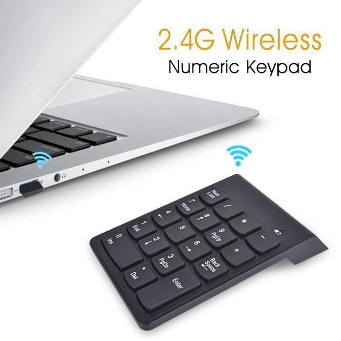 PAVÉ NUMÉRIQUE Pavé numérique sans fil iClever - 2,4 GHz - Pour o