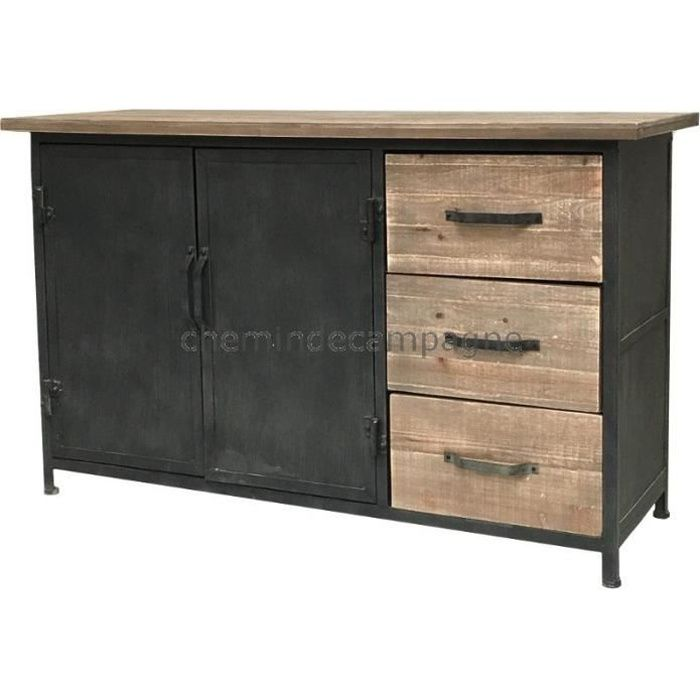 buffet industriel metal achat vente buffet industriel. Black Bedroom Furniture Sets. Home Design Ideas