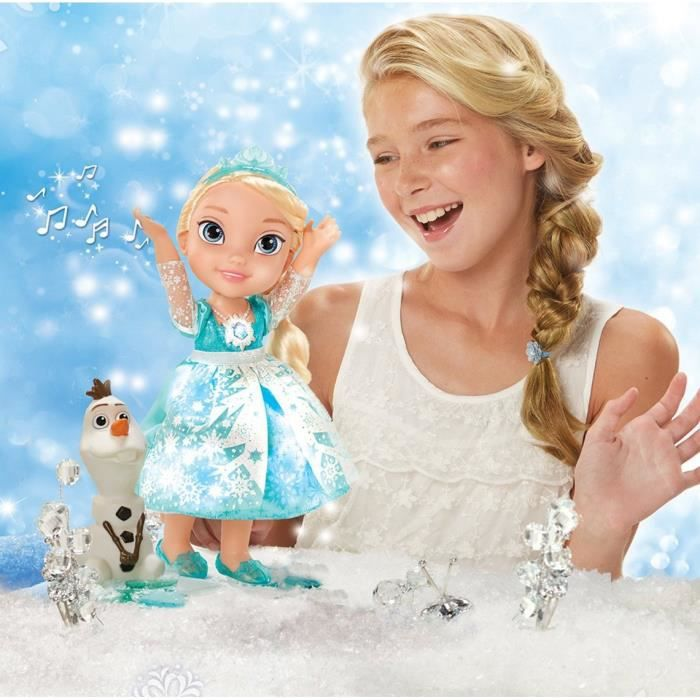 la reine des neiges poup e elsa chante avec moi et micro achat vente poup e cdiscount. Black Bedroom Furniture Sets. Home Design Ideas