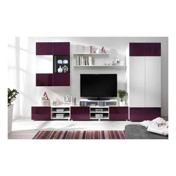justhome gordia iii unit murale blanc pourpre achat