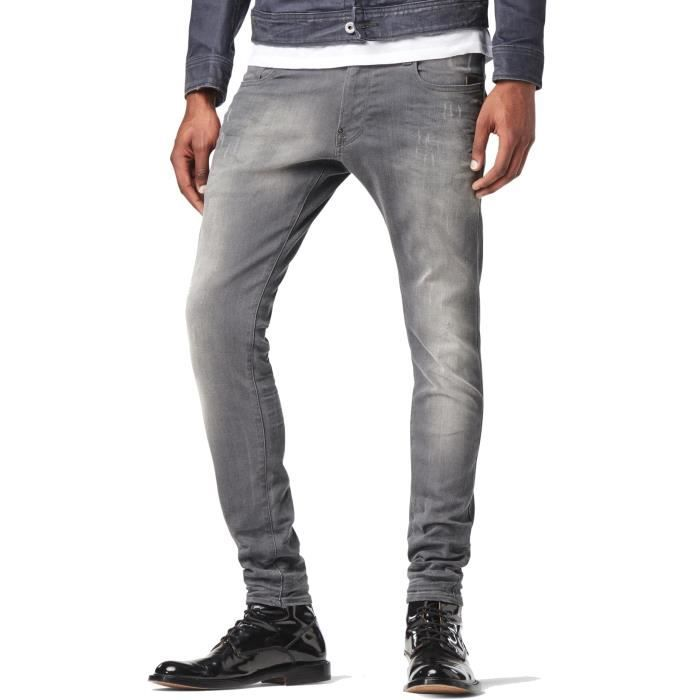Jeans G STAR Revend Super Slim Slander Grey Superstretch Light Aged Destroy ffbe28ee4c83
