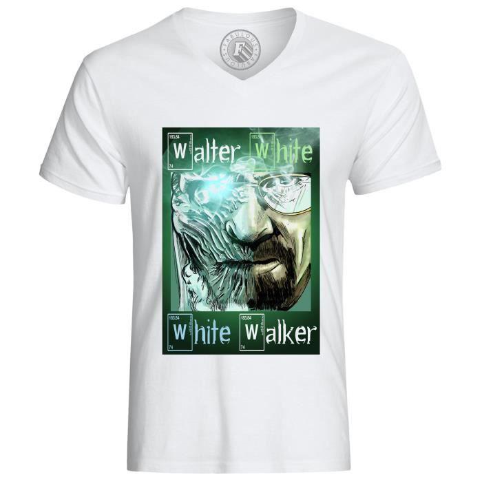 T-SHIRT T-shirt Breaking Bad Games Of Thrones Marcheur Bla