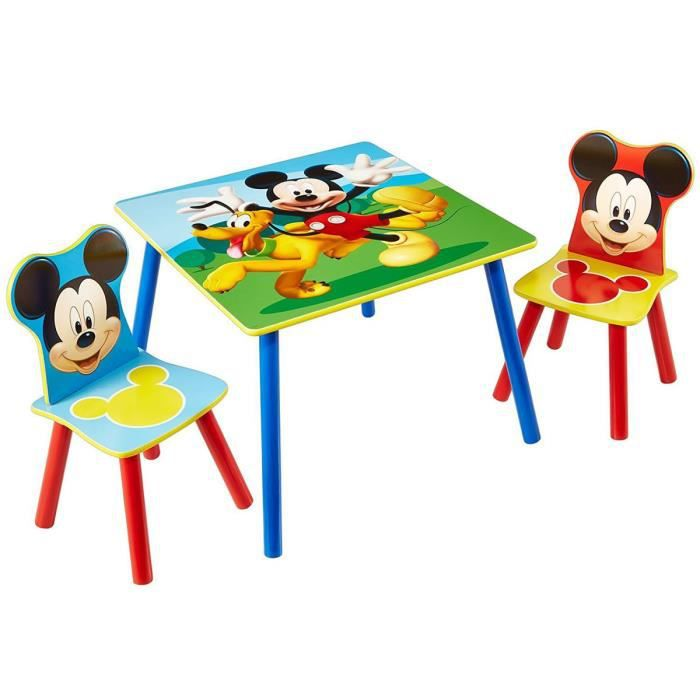 Ensemble table motif 2 chaises Mickey Disney et gyvmYb76fI