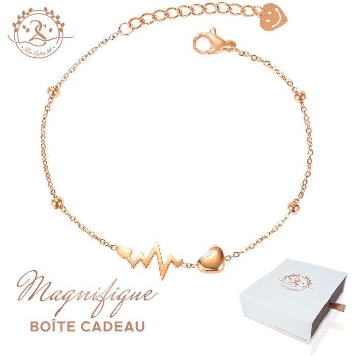 2SPLENDID® Bracelet femme gourmette Battement de C