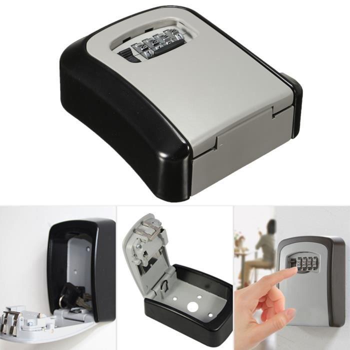 Boîte à Clé Coffre-fort Coffret Code Combinaison Armoire Sécurité Mural Key Safe