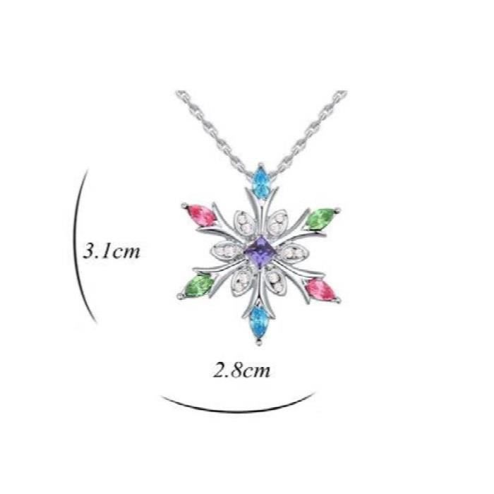 Womens Star Swarovski Crystals Rhodium Plated Pendant Jewellery For & (multicolour) F6PU8