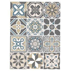 STICKERS Stickers Carreaux de Ciment - MOZICBEIGE - 12 pièc